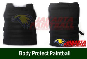 Body Protect Paintball Hitam
