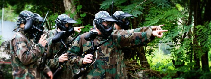 indonesia paintball battle war
